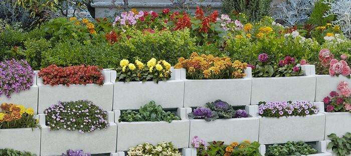 Jardineras jardiner a materials miquel almac n de for Jardineras con bloques de hormigon