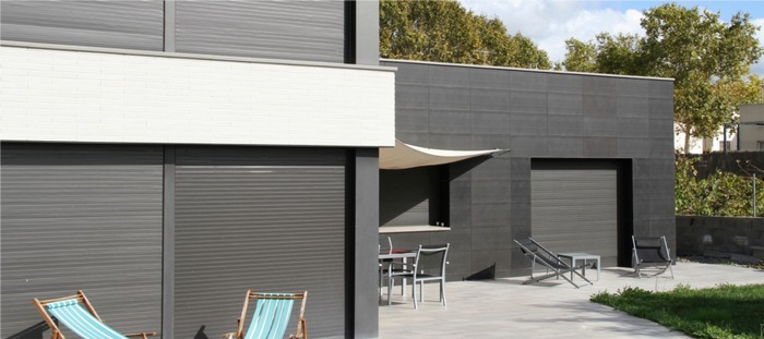 Materiales fachadas de fachada de material compuesto de aluminio liso de tipo cassette gwent - Material para fachadas ...