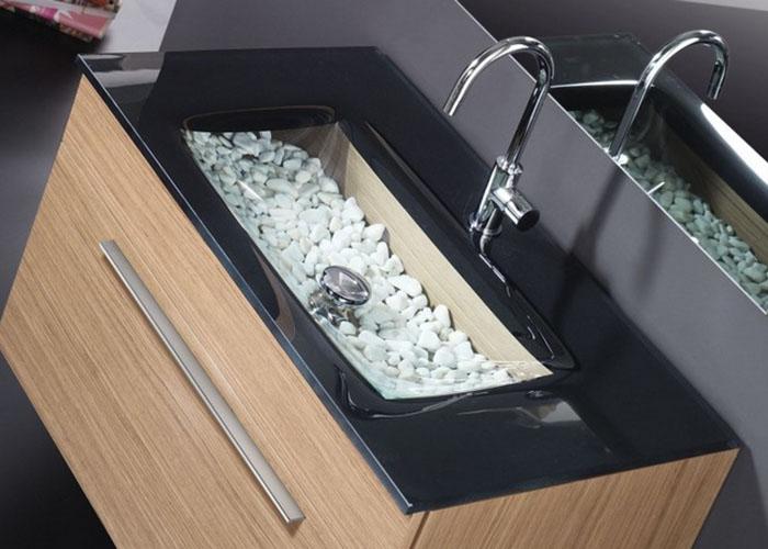 Lavabos cristal lavabos cristal regia bilbao abarcando un for Lavabos de cristal