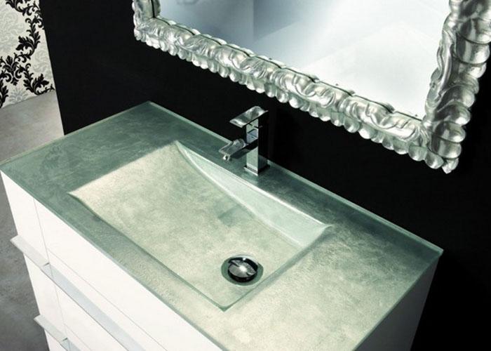 Lavabos de cristal ba os y complementos materials - Encimera lavabo cristal ...